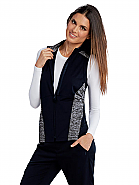 Women's 2-Pocket Contrast Panel Scrub Vest