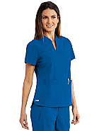 Split Neck Tunic Scrub Top