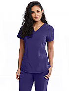 'Motion' Jill 3 Pocket Princess Seam Back Scrub Top