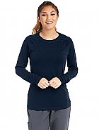 Women's True Crew Neck Long Sleeve Scrub Tee