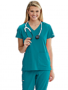Women's 'Focus' 6 Pocket Crossover V-Neck Scrub Top