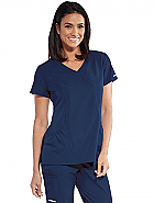 Women's 3-pocket V-Neck Shirred Surplice Top