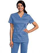 Women's All Day Y-Neck Scrub Tunic