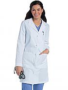 Women's Knot Button Lab Coat