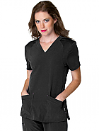 Women's Miracle V Neck with Knit Panels